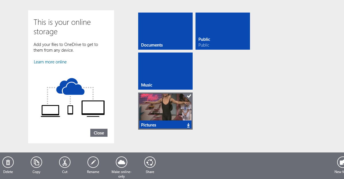 Make OneDrive Folder Online Only (Or Offline)