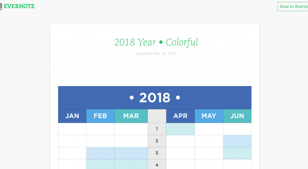 Evernote Planning Template